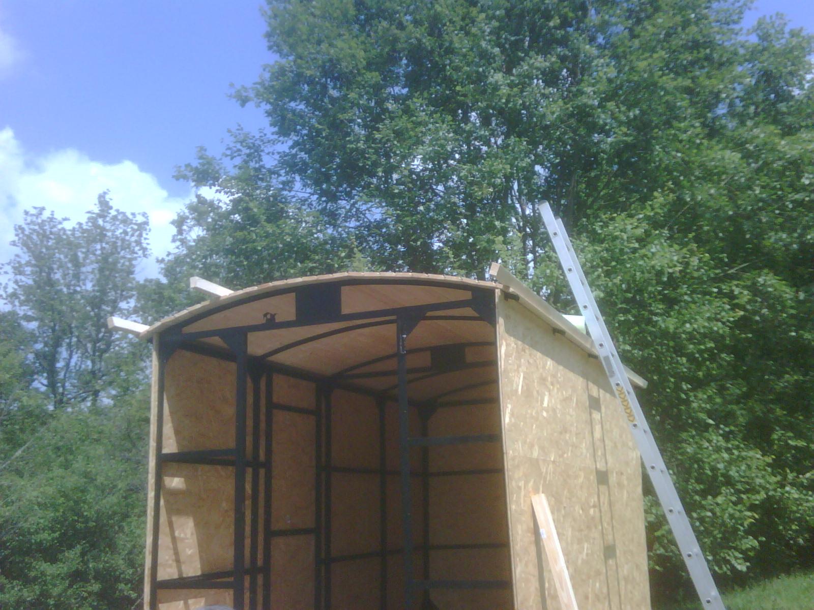 Aufbau des Daches, Lattung